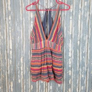 Free people boho striped summer romper